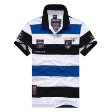 Polo shirt man Brand clothing Tace&shark polo shirts New summer casual striped cotton men's POLO shirts, men's shirts