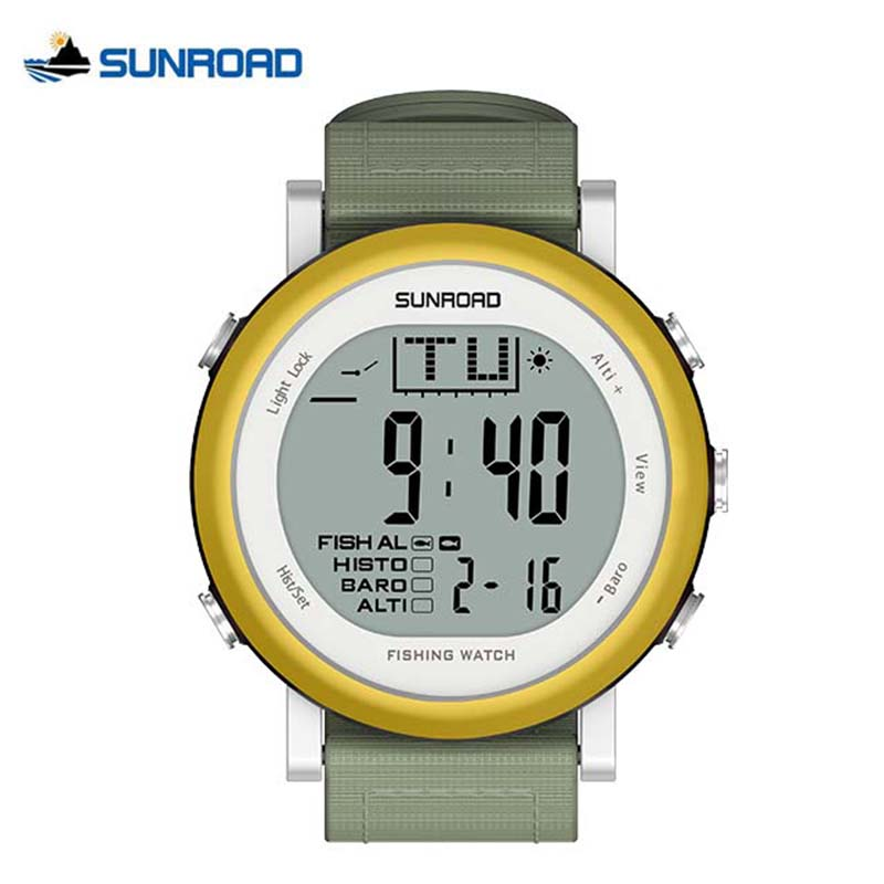 SUNROAD Digital Relogio Weather Forecast Outdoor Sports Fishing Watch Waterproof Barometer Thermometer Altimeter Watch Men Women