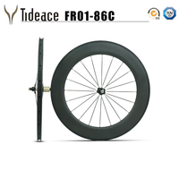 Clincher&tubeless 700C full carbon road rims 86mm clincher wheelset 27mm width basalt brake surface carbon wheels Novatec hubs