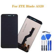 5.0 inç ZTE Blade A520 LCD dokunmatik ekran yüksek kalite ekran değiştirme cep telefonu ekran + araçları