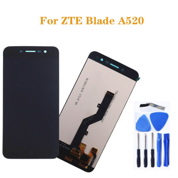 5.0-inch For ZTE Blade A520 LCD touch screen high quality display replacement mobile phone screen+tools factory quality ips lcd display 7 85 for supra m847g internal lcd screen monitor panel 1024x768 replacement