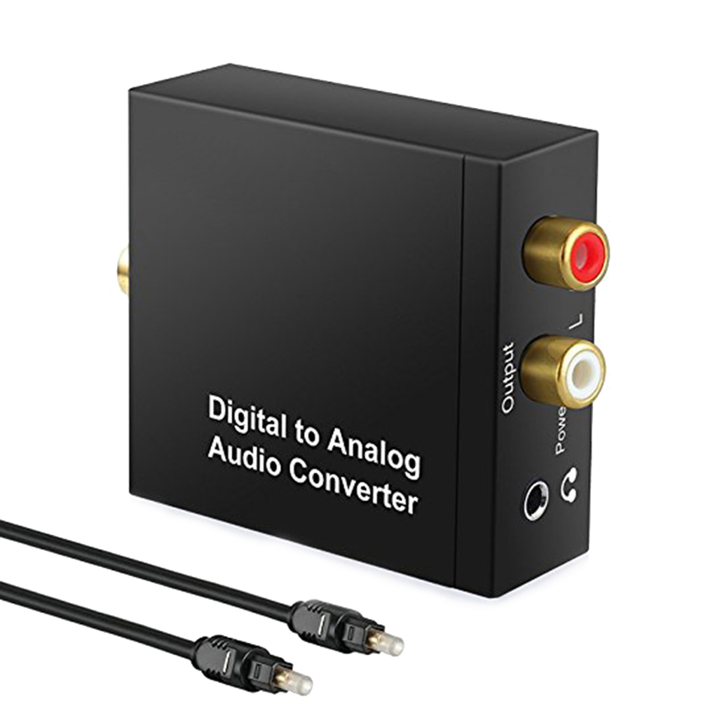 Digital-analog-wandler MüHsam Protable 3,5mm Jack Koaxial Optische Faser Digital Zu Analog Audio Aux Rca L/r Konverter Spdif Digital Audio Decoder Verstärker Top Wassermelonen Tragbares Audio & Video