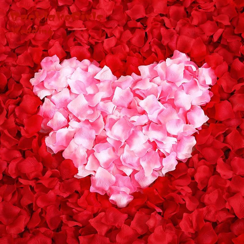 Artificial Silk Rose Petals 1000pcs/lot Wedding Party Decorations Flower Girl 12 Colors wedding petal only US 0.0026 / piece
