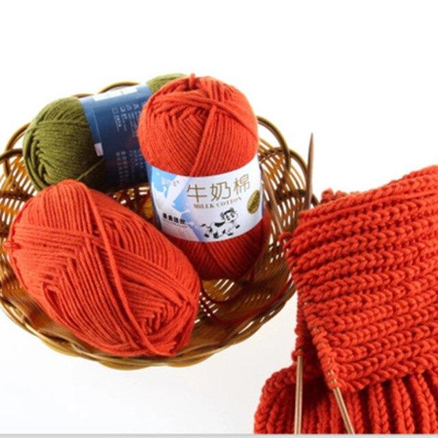 500g/10 piezas hilo grueso para tejer lana hilo de punto de algodón ...