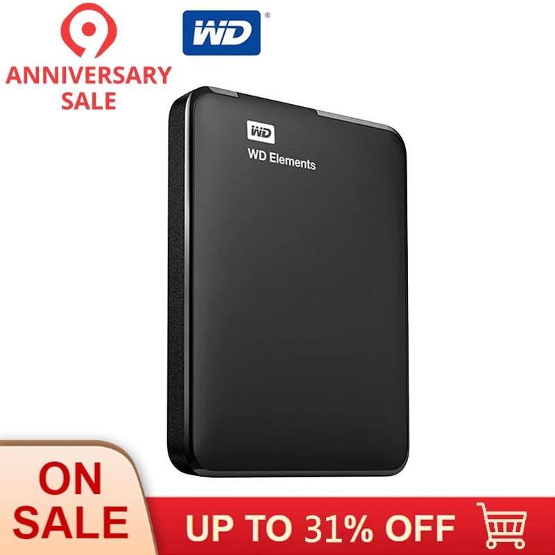 Western Digital WD Elements Disque Dur disque dur externe 500G 1 TB 2 TO USB 3.0 disque dur Hdd 2.5 Pouces disque dur portable