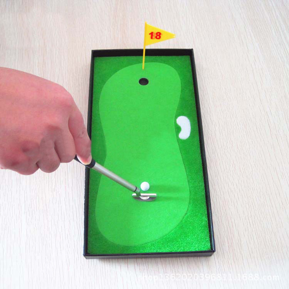 Mini Tabletop Golf Putting Toy Home Office Desk Game Decor Gifts  043 327(China