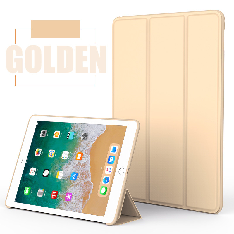 Gold Monochrome smart case with silicone back for Apple iPad Pro 10.5