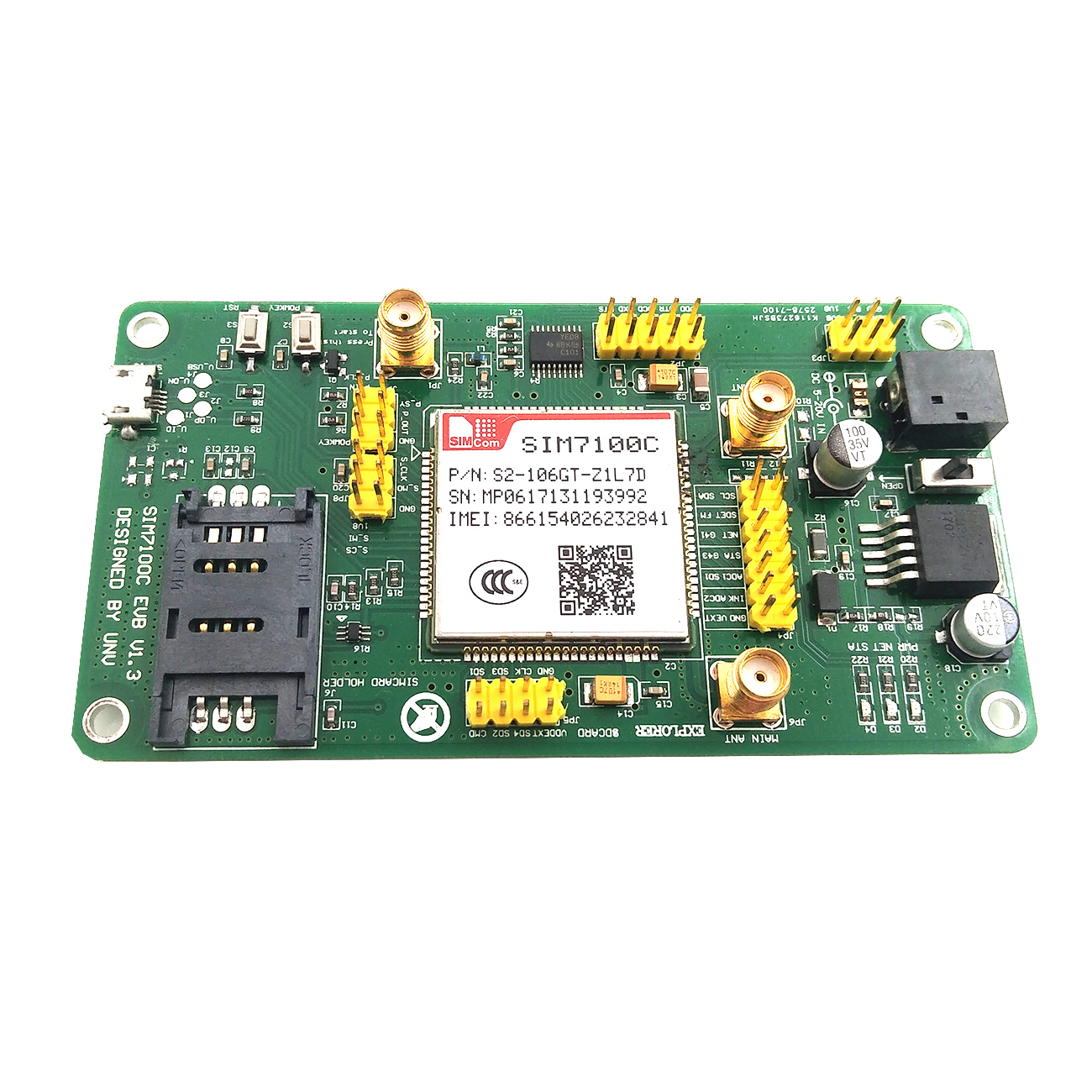 Image 2 - New SIM7100C PCIE 4G 4g 3g 2g communication module 5 mold LTE TDD FDD GPS module-in Integrated Circuits from Electronic Components & Supplies