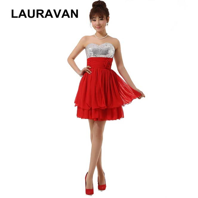 robes de soirees strapless elegant red off the shoulder strapless chiffon gown for short   bridesmaid     dresses   2018 free shipping