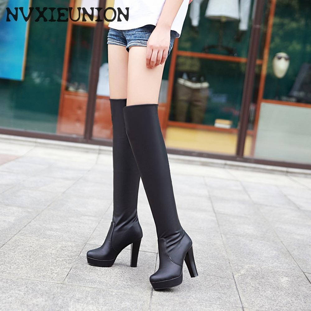 Online Get Cheap Thigh High Platform Boots -Aliexpress.com ...