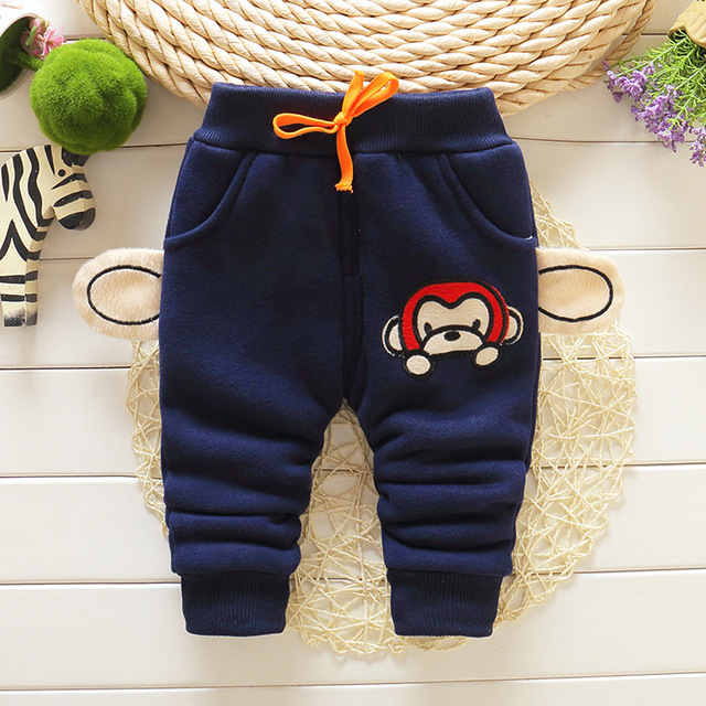 Cemigo 2016 New Baby Warm Pants Baby Boys Plus velvet Trousers Baby Winter Pants Children Casual Trousers