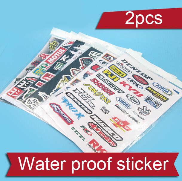 2 stuks Water Proof Sticker Gepersonaliseerde Decoratieve Sticker Voor DIY RC Boot/Auto/Vliegtuig Model O Jacht Model