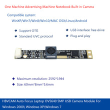 Auto Focus Laptop OV5640 5MP USB Camera Module For Windows 2000\ Windows XP\Windows 7 стоимость
