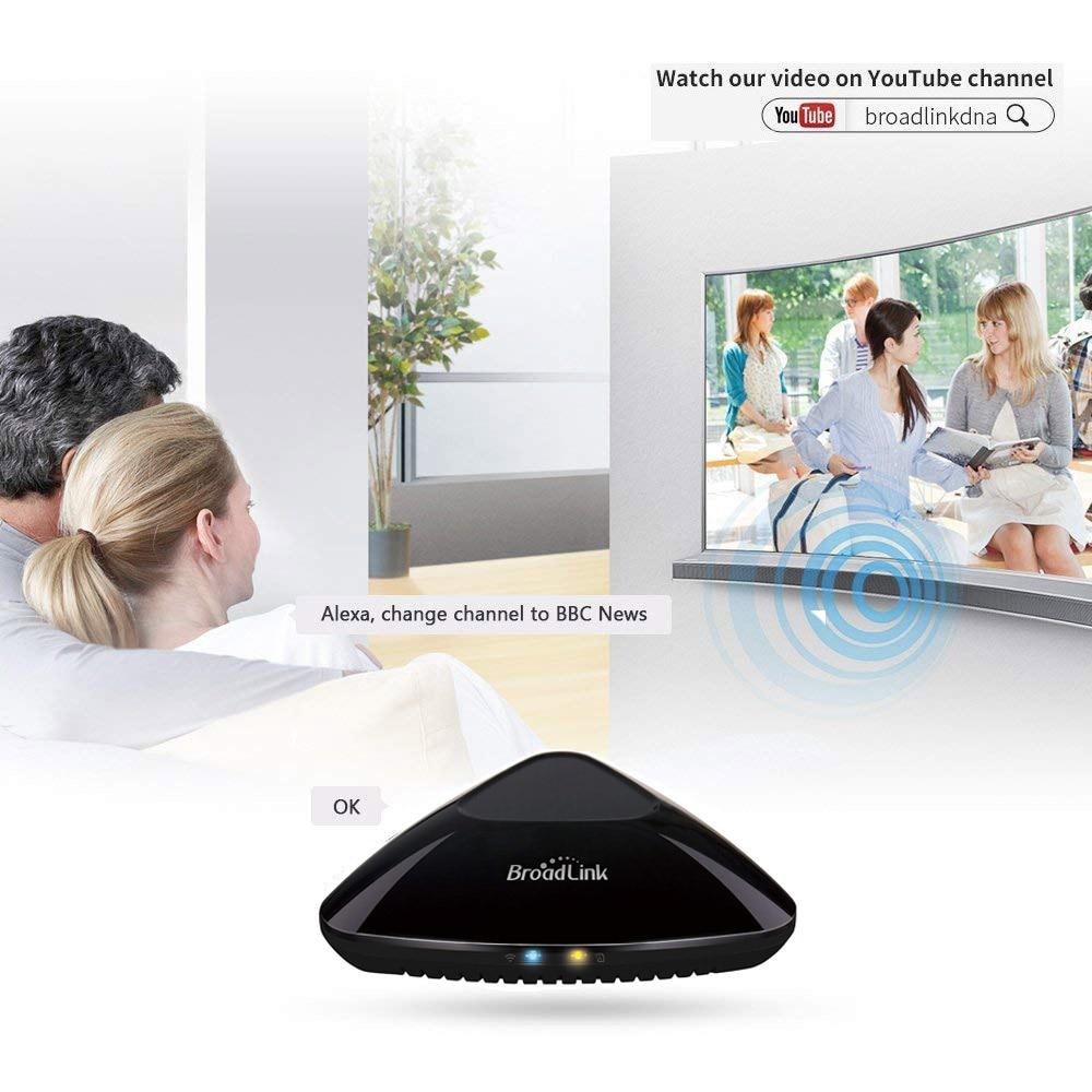 Broadlink RM Pro + Compatibel met Amazon Alexa Echo Google Assistent RF IR Domotic Hub Universal Remote Wifi Controller App-in slimme afstandsbediening van Consumentenelektronica op  Groep 1