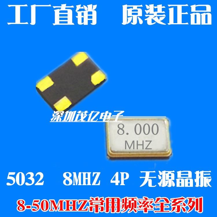 5032 8M SMD Crystal 5*3,2 8,000 4P пассивный 4-контактный Crystal 8mhz Crystal Metal резонатор