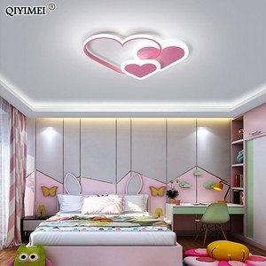 Image 4 - לב Led נברשת אור עבור ילדה חדר שינה Plafond אקריליק תאורת מנורת מודרני חדש מתקן Lampadario Luminaire Lustres