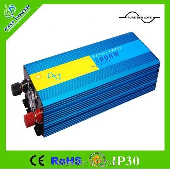Digital Display 6000W Peak 3kW Inverter 12V DC to 230V AC 3000W Pure Sine Wave Inverter 3000W pure sinus inverter