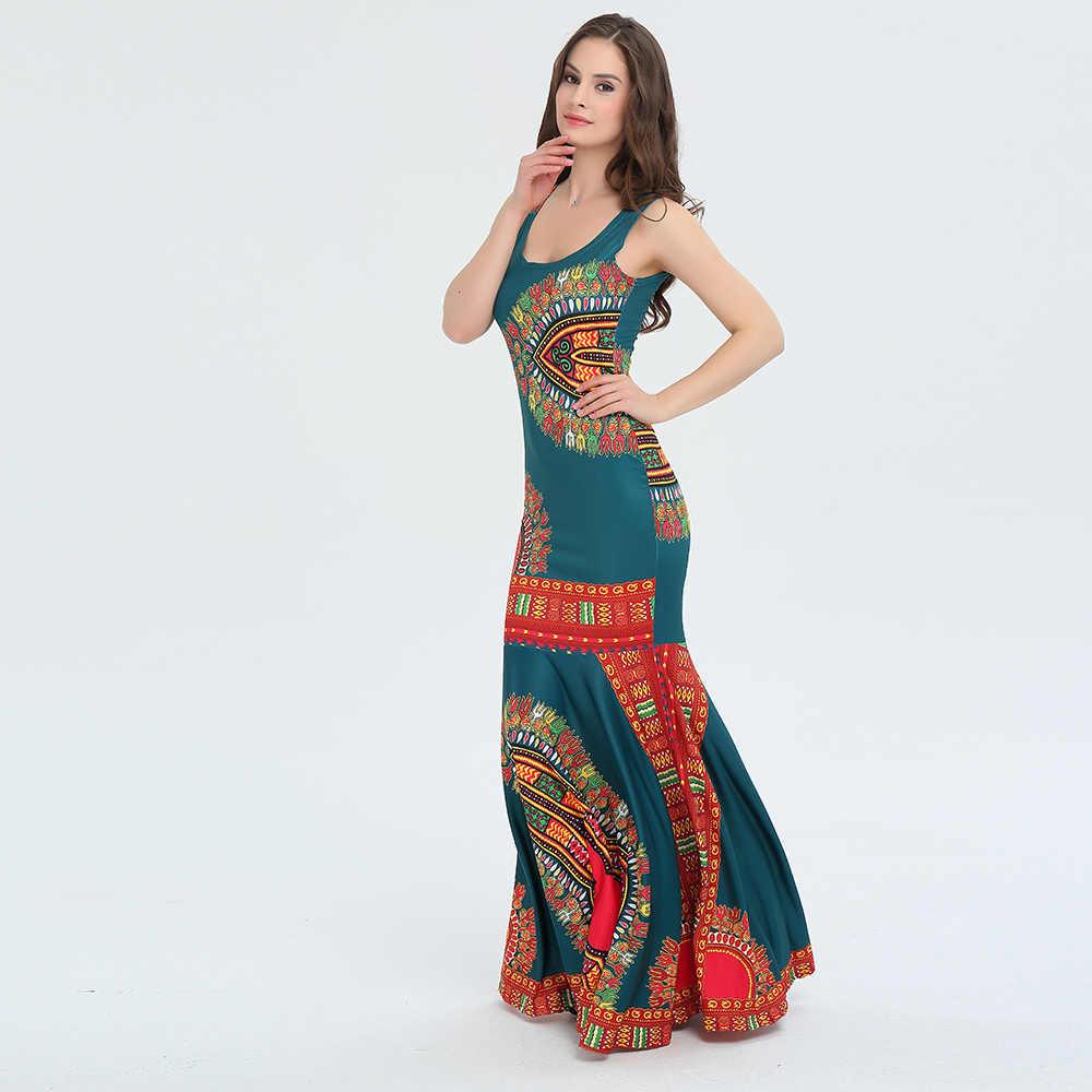 e280fdb8854 ... Dashiki For Women Dress Summer Vintage Long Maxi Sexy Party African  Print Boho Style Floor- ...