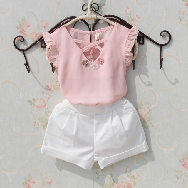 f5e852625f Niños blusa Verano de 2018 adolescentes chicas grandes camisas de gasa  blusas blancas de las niñas