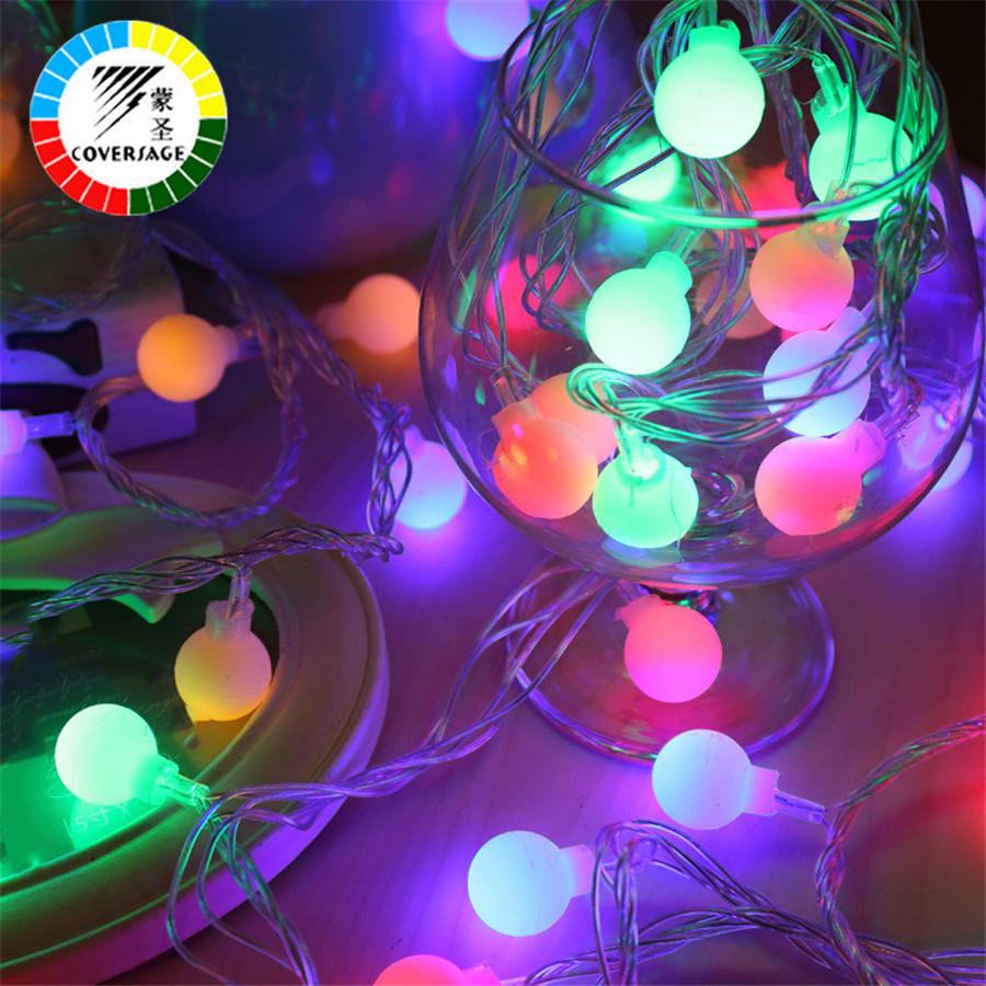 Coversage 10M100 Led Festoon Juletræ Garland String Xmas Decoration - Ferie belysning - Foto 2