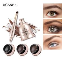 UCANBE Intense Gel Eyebrow Eyeliner Cream Waterproof Makeup Natural Dye Eye Brow Enhancer Black Eye Liner Long Lasting Kit Tools цена