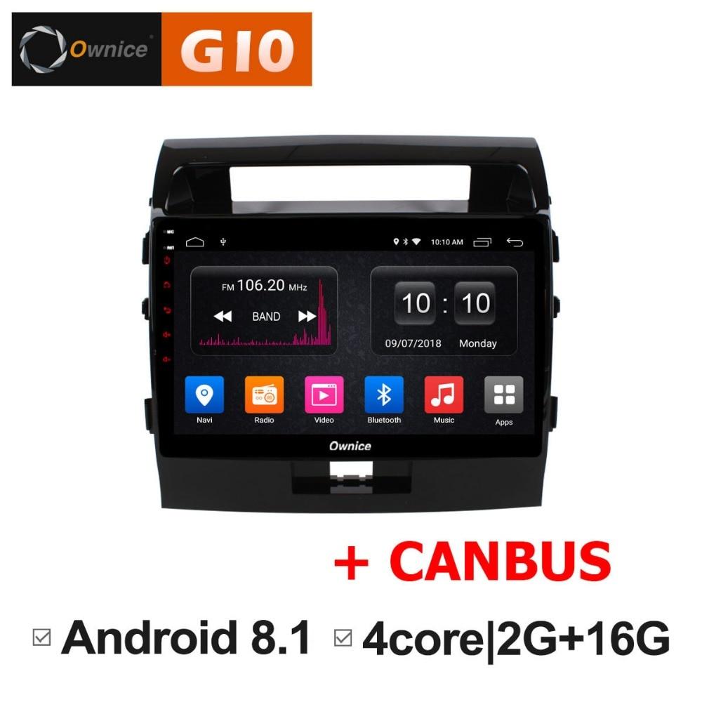 "Constructief Hd 10.1 ""android 8.1 Quad Core 2 Gb Ram + 16 Gb Rom Auto Dvd-speler Voor Toyota Land Cruiser 2007-2013 Gps Radio Stereo Bt Tpms Dab + Geurig Aroma"