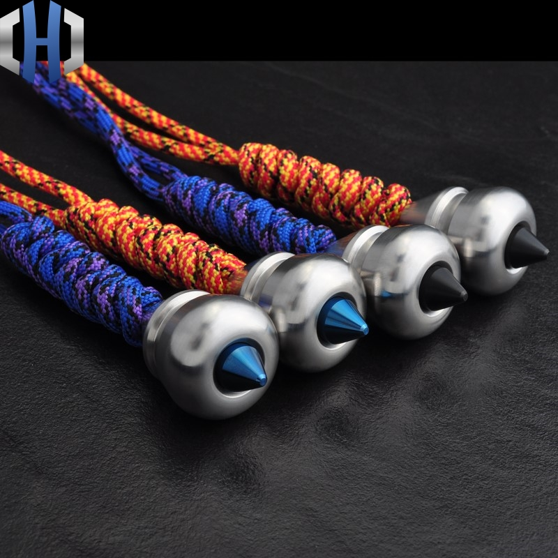 Metal EDC Sharp Knife Beads Pendant Paratrooper Rope Art Double Crafts Gourd Sinkers With Toys