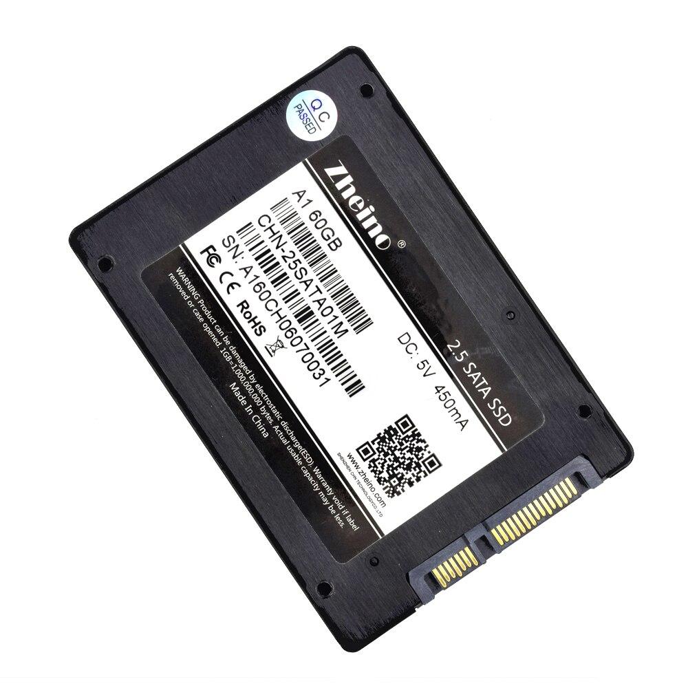 Zheino A1 2.5 inch SSD SATA3 60GB SSD MLC with USB 3.0 Type A-Type C External Hard Drive Enclosure SSD For Laptop Desktop PC