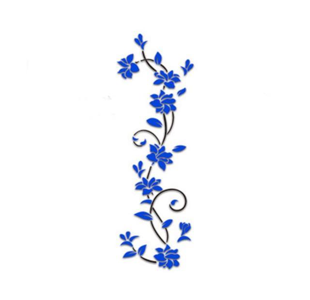 2018 New Fashion Spring Garden Flower Rattan Home Wall Stickers Wall  Sticker Home Shop Windows Decals