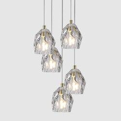 Nowoczesny murarskie Loft LED żyrandol ze szkła wiszące lampy sypialnia salon Hotel biuro LED lampy wiszące oprawy oświetleniowe oprawa w Wiszące lampki od Lampy i oświetlenie na