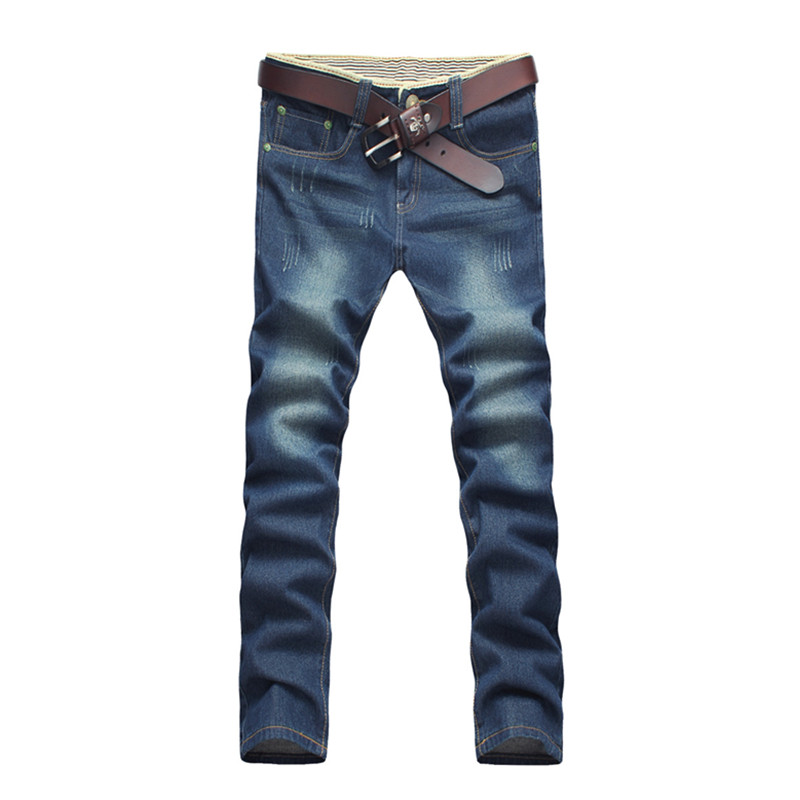 2016 winter men s classic High quality jeans men s straight cotton jeans Pencil Pants Large