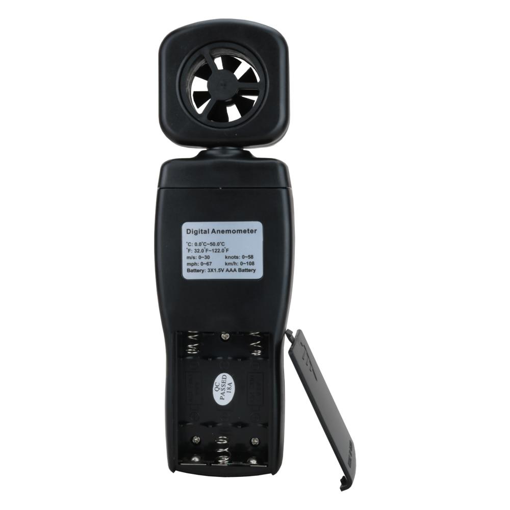 Többfunkciós anemométer LCD szélsebességmérő - Mérőműszerek - Fénykép 4