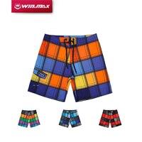 WINMAX 2016 Newest Fashion High Waisted Board Hawaiian Style Camo Plaid Shorts For Men