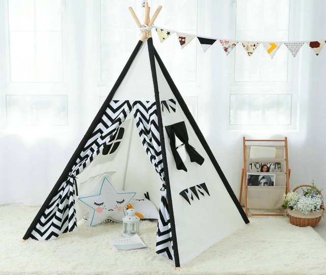 dalos traum indianerzelt indoor spielzelt gro e baumwolle kinder zelt leinwand kinder tipi zelt. Black Bedroom Furniture Sets. Home Design Ideas
