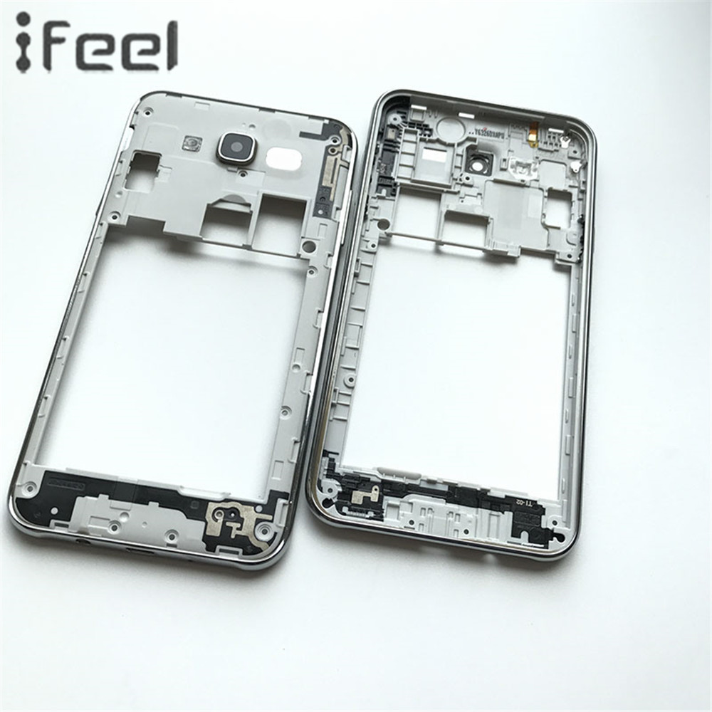 New Middle Plate Frame Bezel Housing+Side Button+Camera Glass Lens For Samsung Galaxy J7 J700 2015 J700F J700M J700H