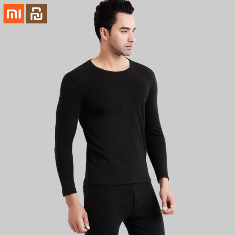The Latest Products Xiaomi Youpin Men Plus Velvet Thickening Heating Underwear Sanding Heat Storage Winter Pajamas Warm Clothes