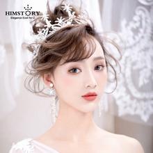 Gorgeous Handmade Crystal Rhinestone Starfish Bridal Tiara Crown Star Bride Headpiece Bouquet Hairbands Wedding Hair Accessories
