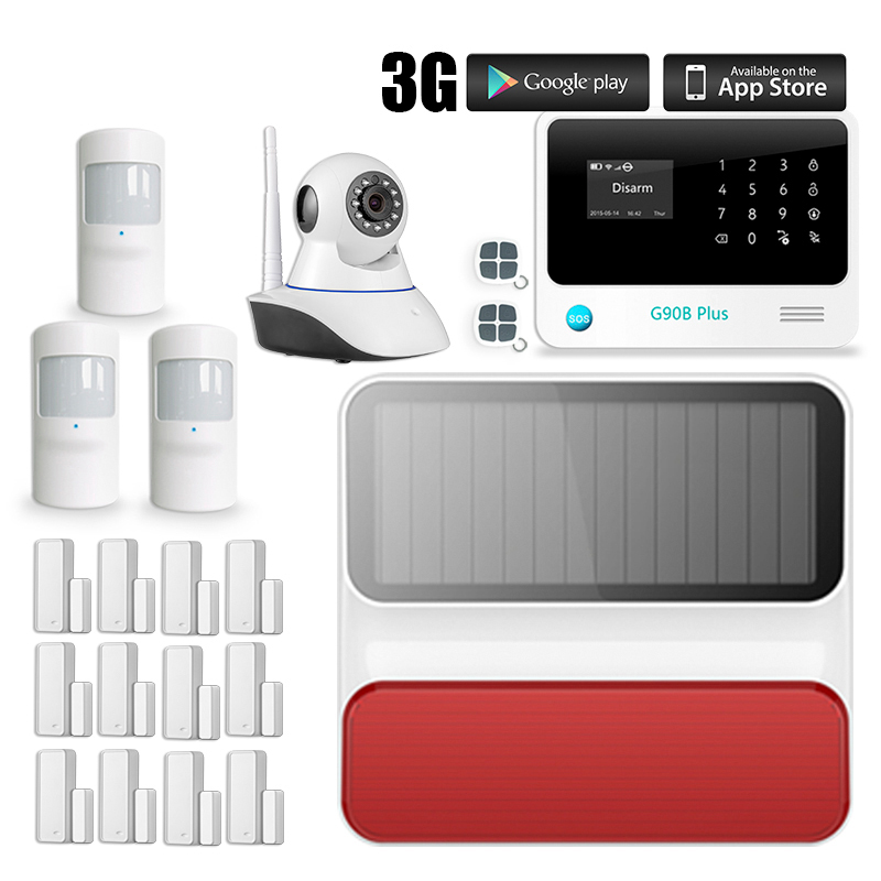Russian/Spanish voice GSM Wireless Alarm System APP control Smart Home Burglar Security Alarm System Kit cheap helpful home security gsm alarm system with app control 3 wired and 70 wireless defense zones burglar alarm system
