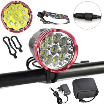 Cycling 18000Lm 10x XM-L2 LED Front Bicycle Lamp Bike light Waterproof 20000mAh cycling bike bicycle handlebar tape belt wrap w bar plug yellow camouflage 2 pcs