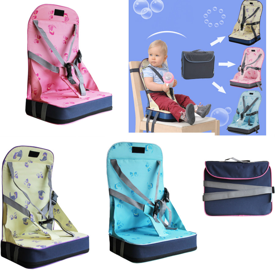 Booster High Chair Seat Top Baby Portable Booster Dinner Chair Oxford Water Proof Chair Seat Feeding Highchair For Baby Chair Seat Christmas Gift In Booster Seats From