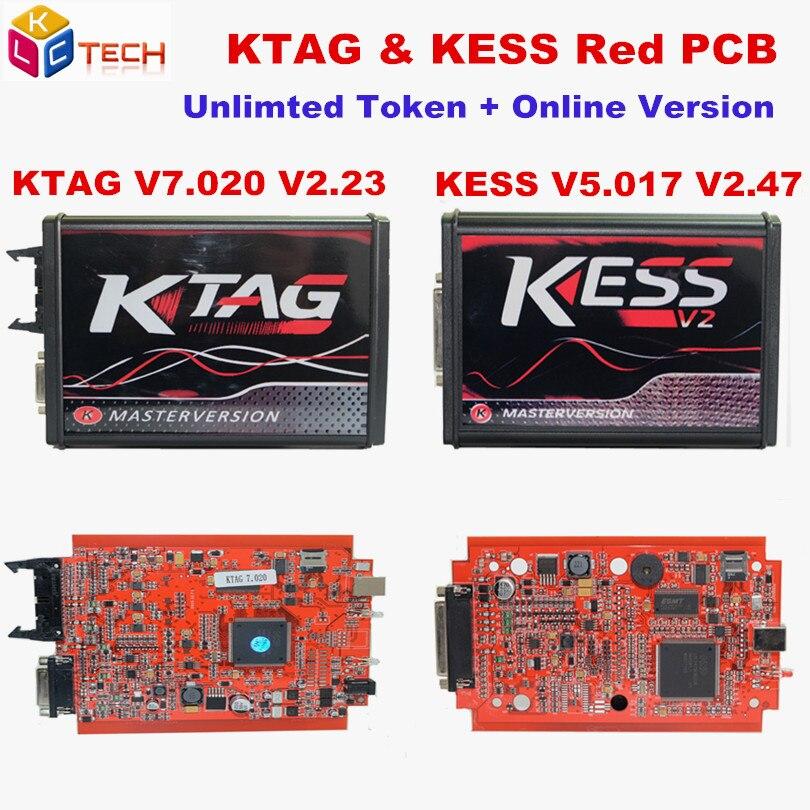 US $62 98 29% OFF KTAG V7 020 ECU Chip Tuning K TAG V2 23 Master Version  Car Truck KTAG ECU Program Tool Better Than KTM100 red KESS 5 017 v2 47-in