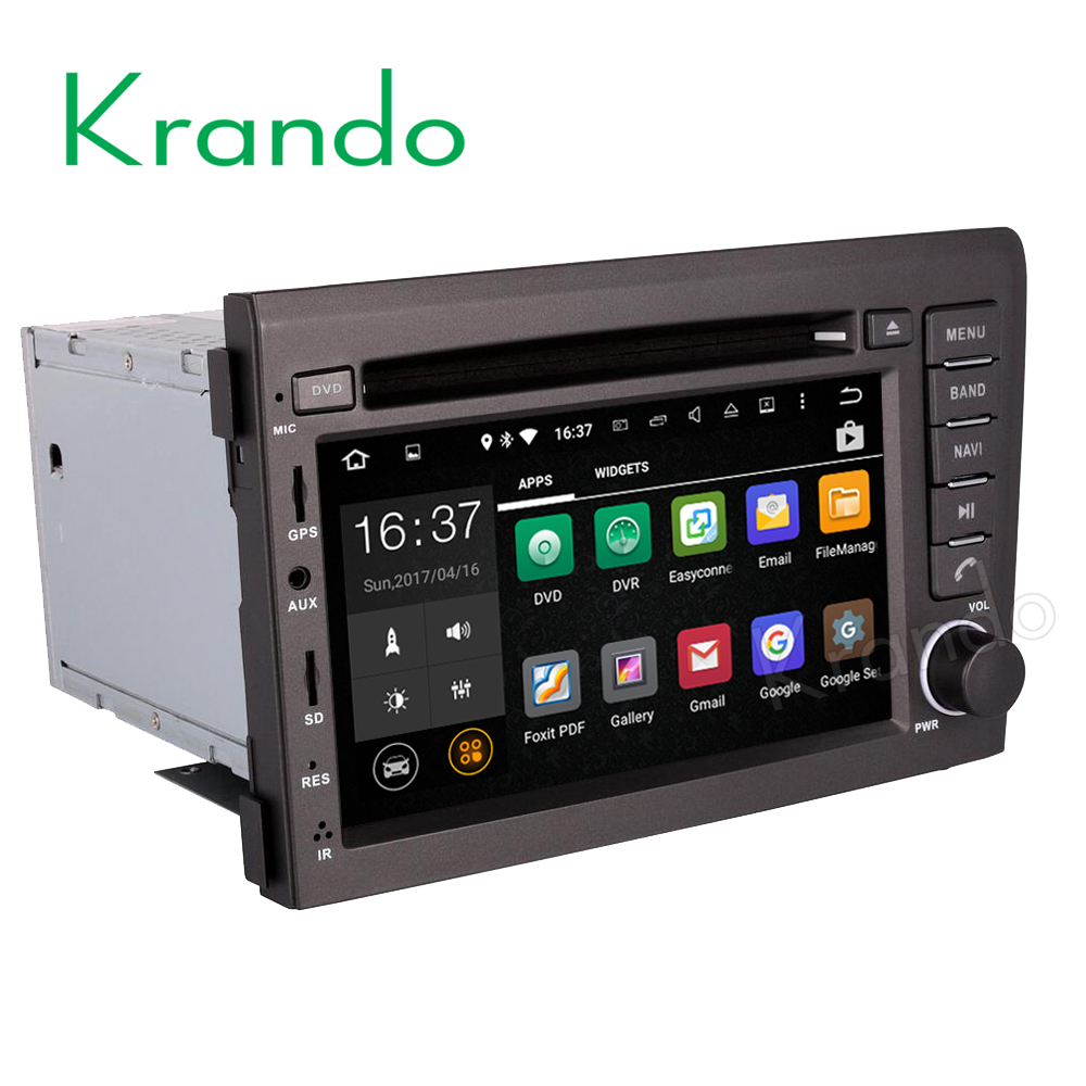 Krando Android 7.1 car radio dvd multimedia for <font><b>volvo</b></font> s60 v70 <font><b>XC70</b></font> <font><b>2001</b></font> 2002 2003 2004 gps navigation system WIFI 3G BT dab+ image