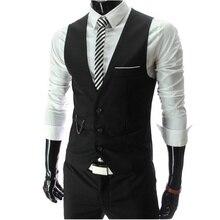 Формальный жилеты homme slim рукавов бизнес fit куртка повседневная жилет мужской