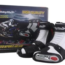 Лидер продаж; новые мотоциклетные ботинки для верховой езды; короткие ботинки для езды; Автомобильная гонка; мотоботы