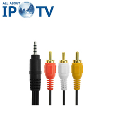 IPTV Set Top Box Cables Europe Arabic Africa Latin USA Brazil UK Channels Code AV Cabels(China)