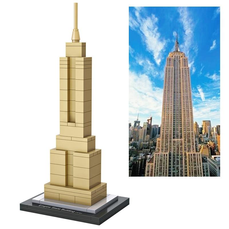 Loz World Famous Architecture Usa Empire State Building Mini 3d Model Blocks Diy