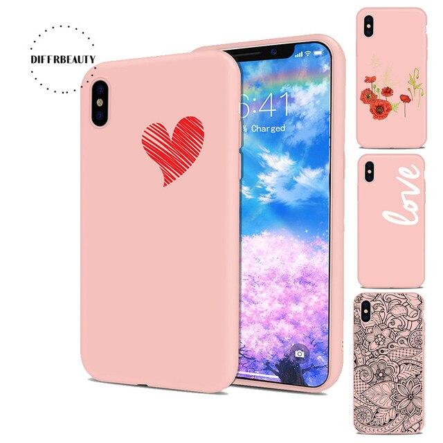 3 64 Diffrbeauty Dessin Animé Rose Mignon Licorne Fleur Simple Texte Amour Silicone Mince Tpu Coque De Téléphone Pour Iphone 8 8 Plus 6 S 7 6 Plus