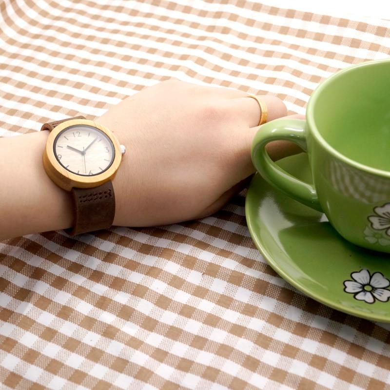 Image 2 - BOBO BIRD Brand Wood Watch Womens Watches Bamboo Wood Wristwatch Female Clock Lady Quartz watch relogio feminino  C D18 2femininofeminino relogio  -