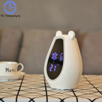 Creative alarm clock with Bluetooth Speaker makeup Mirror Light Smart Sleeping clock
