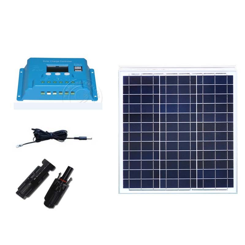 Kit plaque Solaire <font><b>12</b></font> v 40 w Chargeur Solaire <font><b>batterie</b></font> <font><b>12</b></font> <font><b>volts</b></font> contrôleur Solaire <font><b>12</b></font> v/24 v 10A Auto Carmping voiture caravane camping-cars image